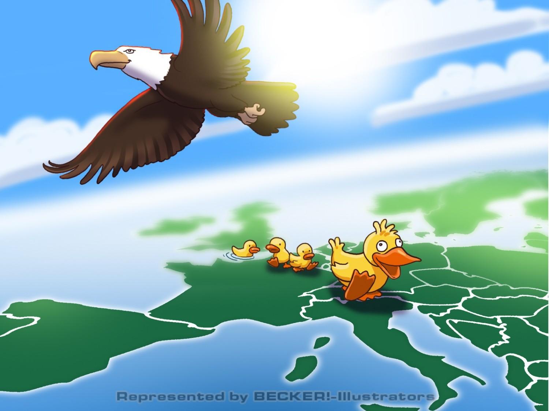 9 eagles and ducks_col von Christian Scharfenberg