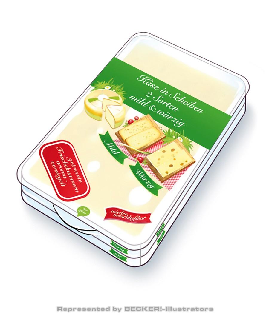Käse-Verpackung von Hannes Neubauer