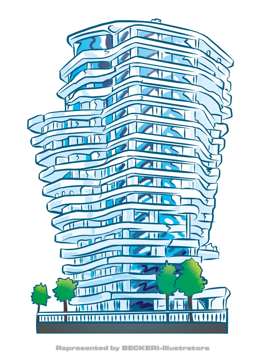 Marco Polo Tower von Hannes Neubauer