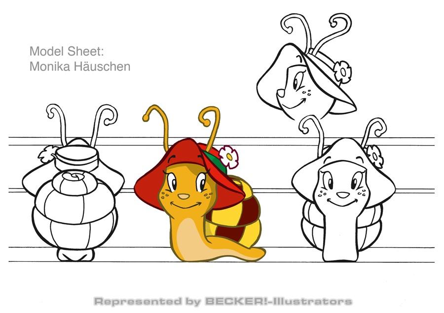 MonikaModelSheet von Hannes Neubauer