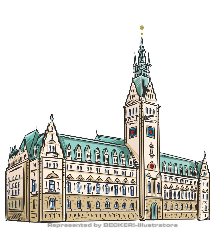 Rathaus Hamburg von Hannes Neubauer