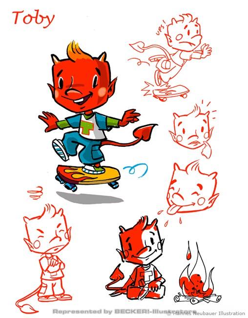 Toby Character Sheet von Hannes Neubauer