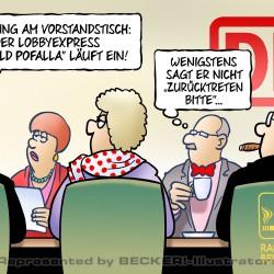 Pofalla und DB von Harm Bengen