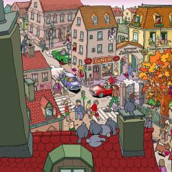Altstadt_Wimmelbild_Wittek von Wittek