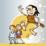 Springende Neanderthalerin