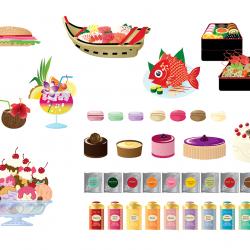 Freistehende Illus Food von Emiko Takano