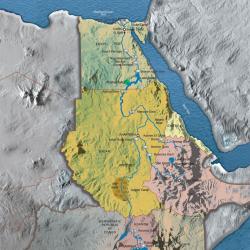 Egypt Map von Arthur Phillips