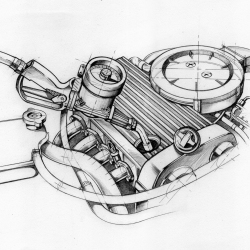 Mercedes Engine von Arthur Phillips
