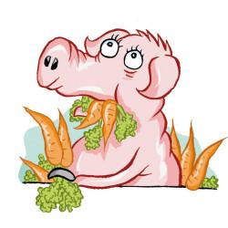 Piggie_carrots von Calle Claus