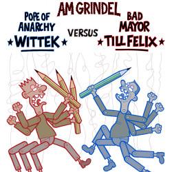 Kampfzeichnen_ComicsTotal_Plakat von Wittek