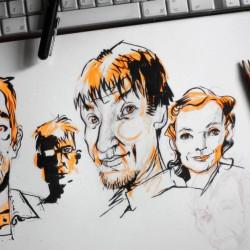 Zeichnungen_Portraits_Wittek von Wittek
